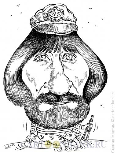 Карикатура: Путешественник Федор Конюхов, Смагин Максим