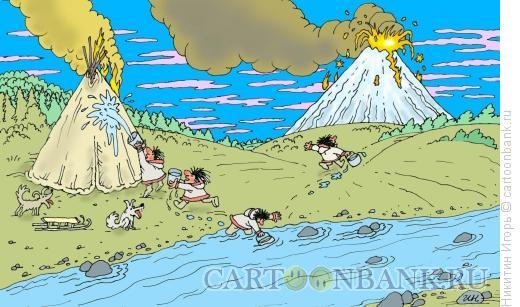 Карикатура: Пожар, Никитин Игорь