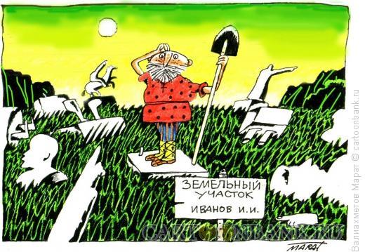 Карикатура: Земельный участок, Валиахметов Марат