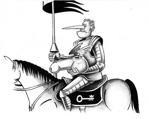 Карикатура: Рыцарь, Сергей Корсун