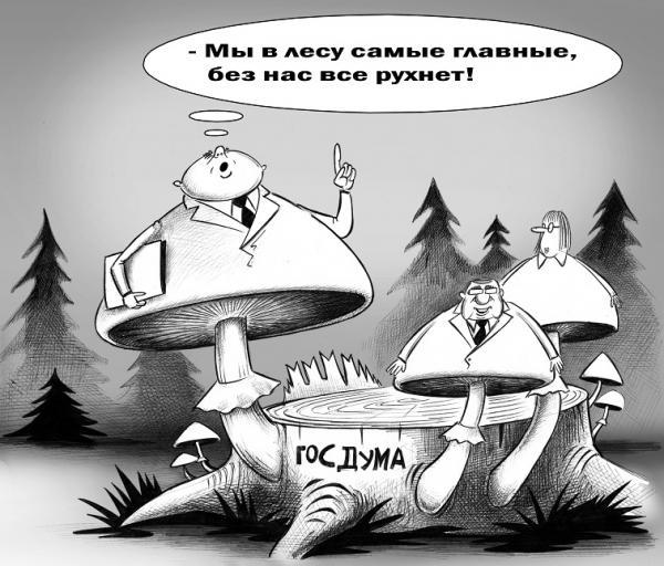 Карикатура: Самые главные, Сергей Корсун