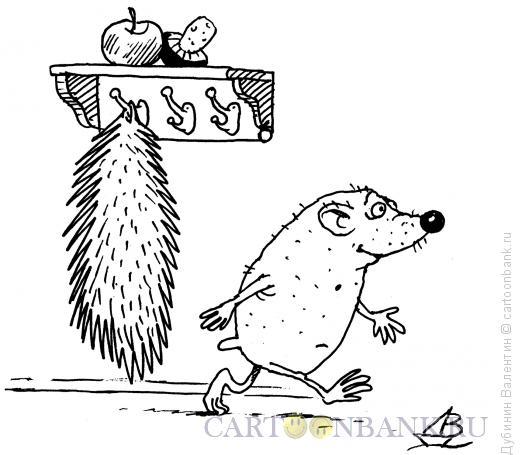 Карикатура: Шубка ёжика, Дубинин Валентин