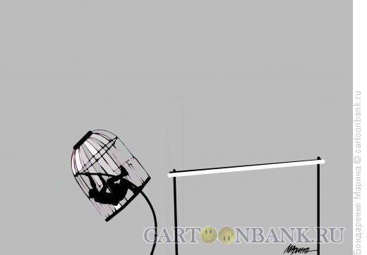 Карикатура: Прыжок в клетке, Бондаренко Марина