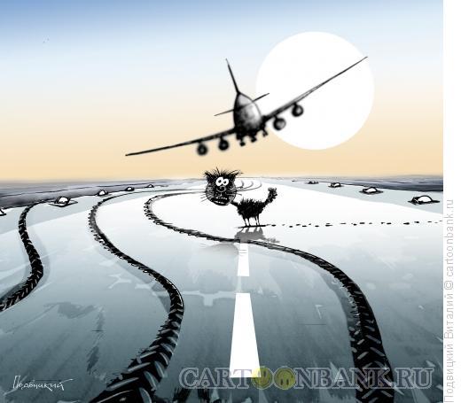Карикатура: Суеверный борт, Подвицкий Виталий