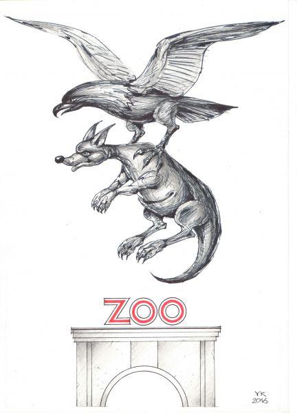 Карикатура: Двойной побег из зоопарка ., Юрий Косарев