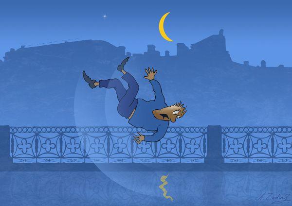 Карикатура: Отражение, Александр Зудин