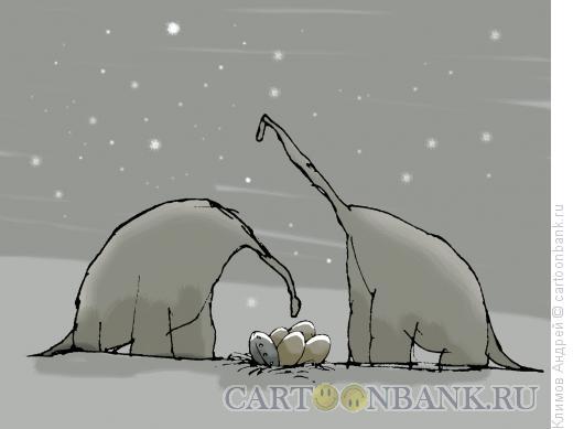 Карикатура: НЛО, Климов Андрей