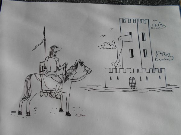 Карикатура: Рыцарь, Петров Александр