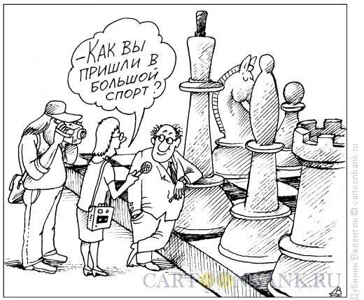 Карикатура: Большой спорт, Дубинин Валентин