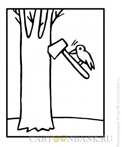 Карикатура: дятел, Копельницкий Игорь