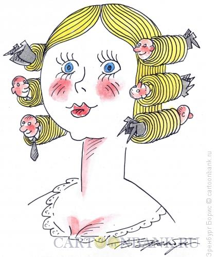 Карикатура: Сердцеедка, Эренбург Борис