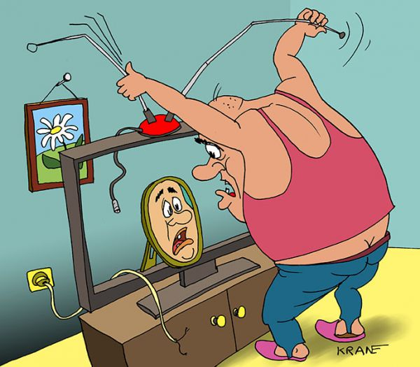 Карикатура: Настройка изображения лица, Евгений Кран