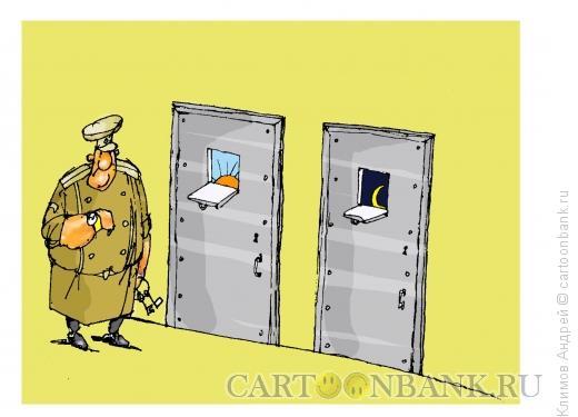 Карикатура: Солнце, месяц, день и ночь, Климов Андрей