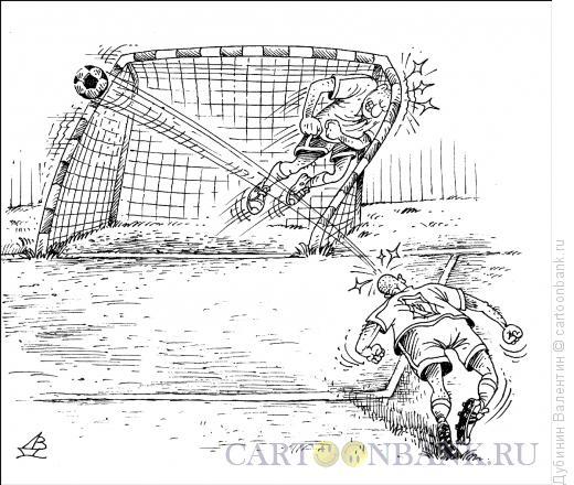 Карикатура: Игра головой, Дубинин Валентин