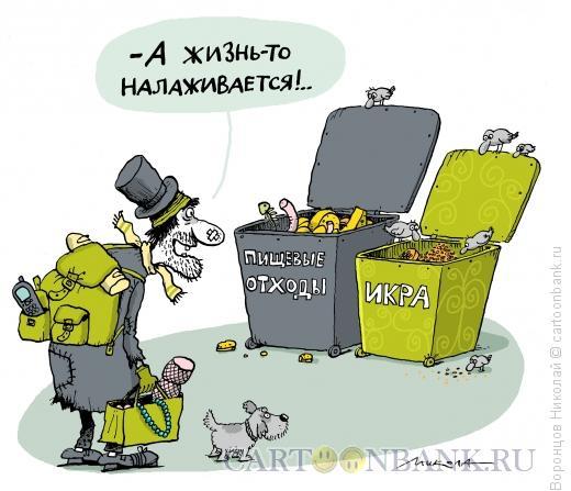 Карикатура: Жизнь налаживается, Воронцов Николай