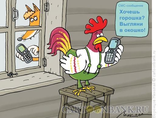 Карикатура: СМС, Воронцов Николай
