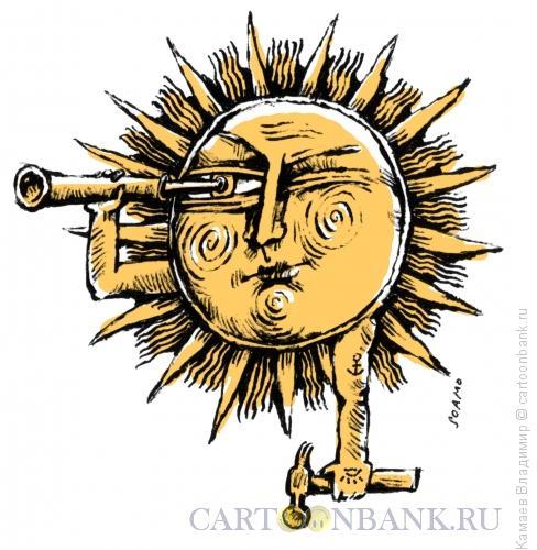Карикатура: Солнечный удар, Камаев Владимир