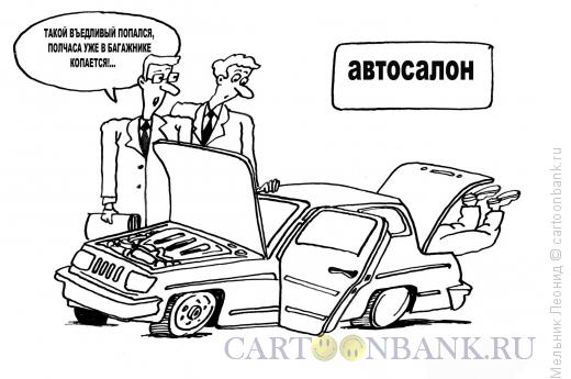 Карикатура: Въедливый покупатель, Мельник Леонид