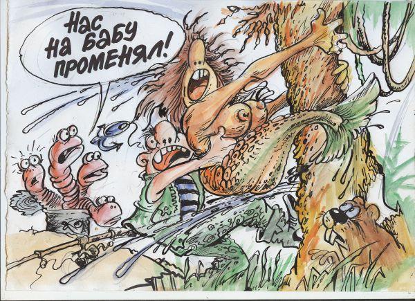 Карикатура: Обожжаю рыбалку, Бауржан Избасаров