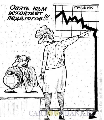 Карикатура: Учитель, Мельник Леонид