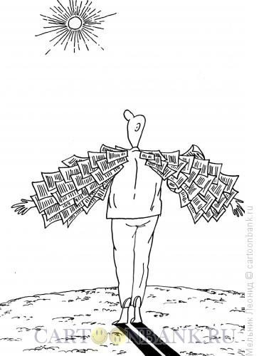 Карикатура: Икар из СМИ, Мельник Леонид