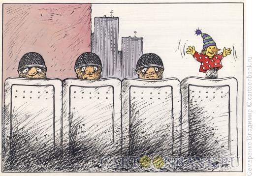 Карикатура: Отвлекающий маневр, Семеренко Владимир