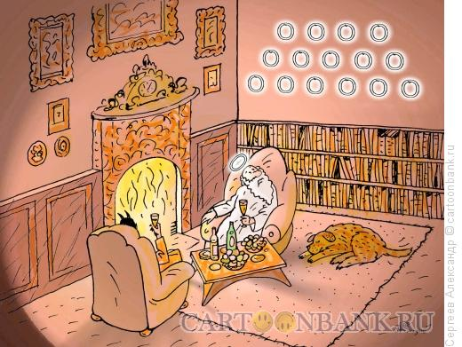 Карикатура: В гостях у Коллекционера, Сергеев Александр