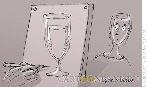 Карикатура: Художник и модель, Макаров Игорь