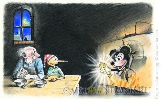 Карикатура: Рисунок из газеты ШАНС, Сергеев Александр