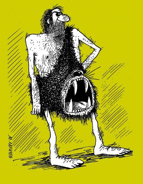 Карикатура: зверь, михаил ларичев