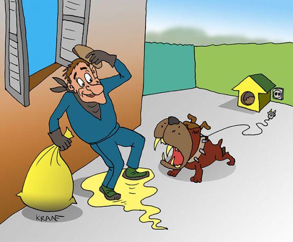 Карикатура: Собака-робот, Евгений Кран