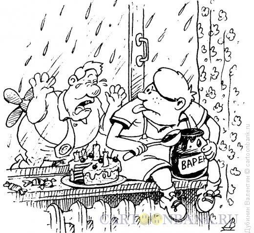 Карикатура: Малыш и Карлсон, Дубинин Валентин