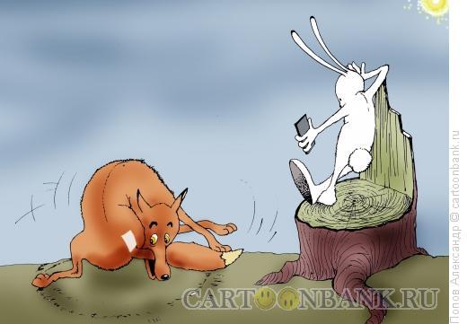 Карикатура: Солнечный зайчик, Попов Александр