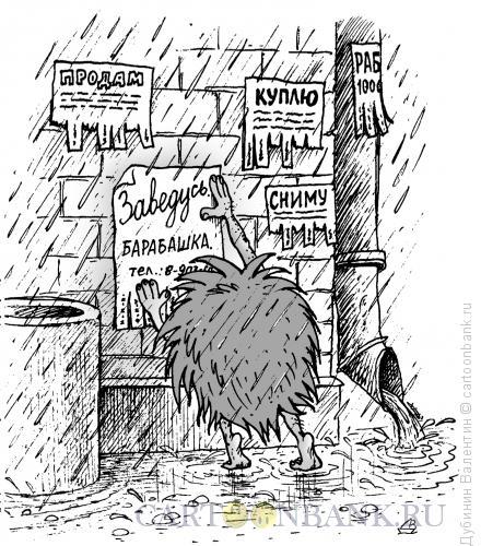 Карикатура: Барабашка, Дубинин Валентин