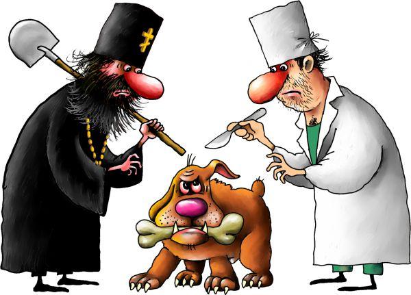 Карикатура: дог, Ануфриев