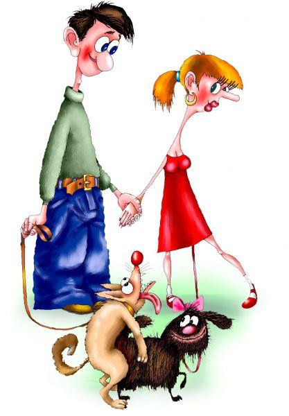 Карикатура: любовь, Ануфриев