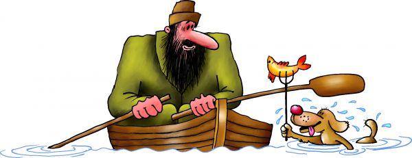Карикатура: муму, Ануфриев