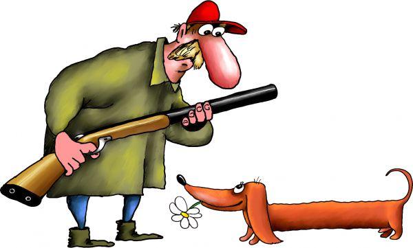 Карикатура: охота, Ануфриев
