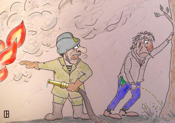 Карикатура: Помогай!, Олег Тамбовцев