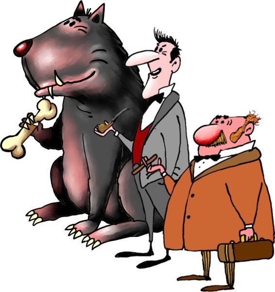 Карикатура: шерлок, Ануфриев