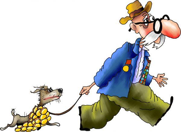 Карикатура: ветеран, Ануфриев