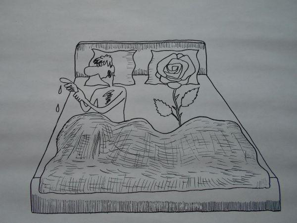 Карикатура: Шипы и роза, Петров Александр