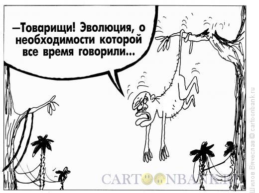 Карикатура: Эволюция, Шилов Вячеслав
