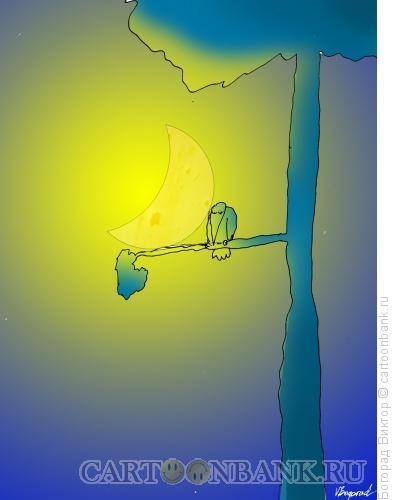 Карикатура: Ночная басня, Богорад Виктор