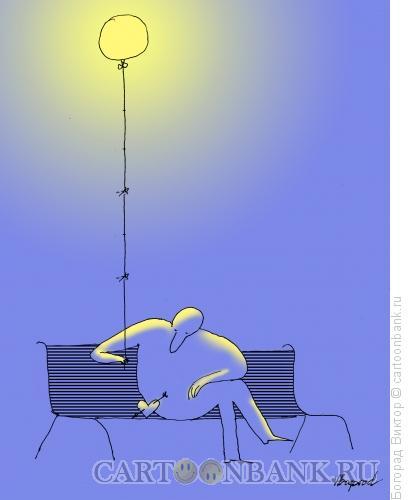 Карикатура: Влюбленный и одинокий, Богорад Виктор