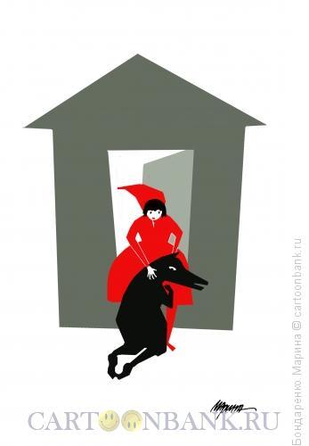 Карикатура: Волк Красная Шапочка. Возвращение. Рембрандт, Бондаренко Марина
