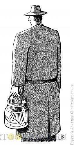 Карикатура: хвост в банке, Гурский Аркадий