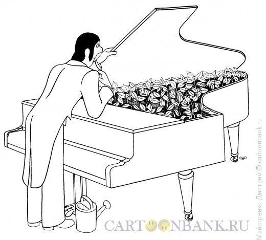 Карикатура: Рояль-теплица, Майстренко Дмитрий
