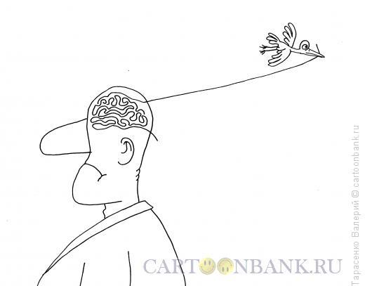 Карикатура: Тонкого ума человек, Тарасенко Валерий