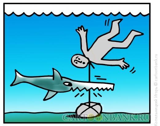 Карикатура: рыба пила, Копельницкий Игорь